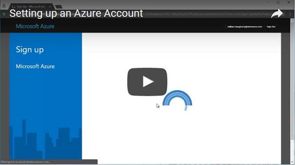 SETTING UP AN AZURE ACCOUNT