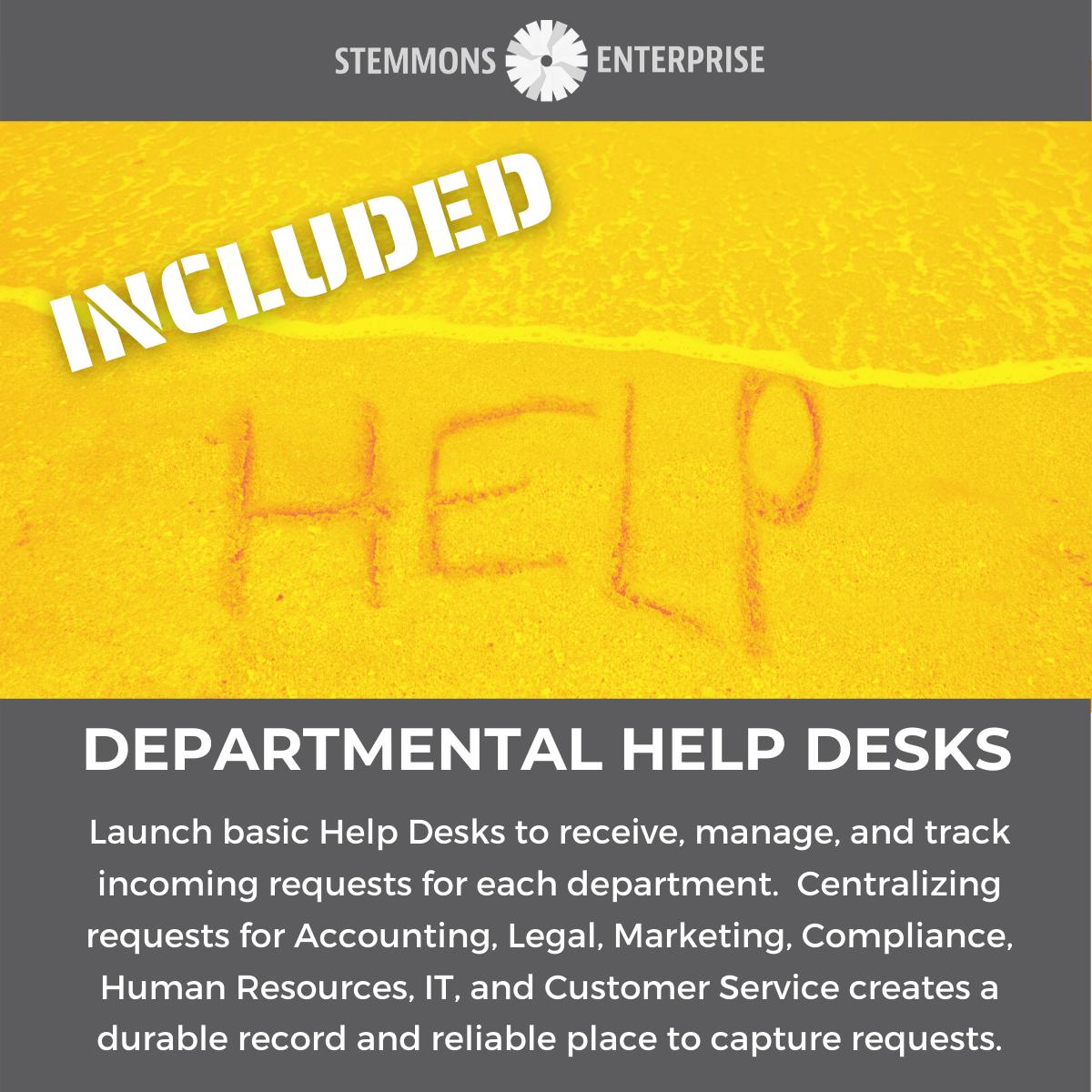 Departmental Help Desks