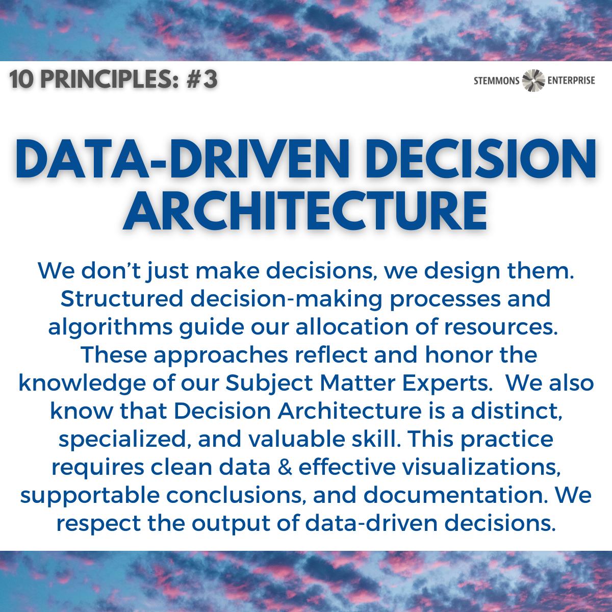 Data-Driven Decision Architecture
