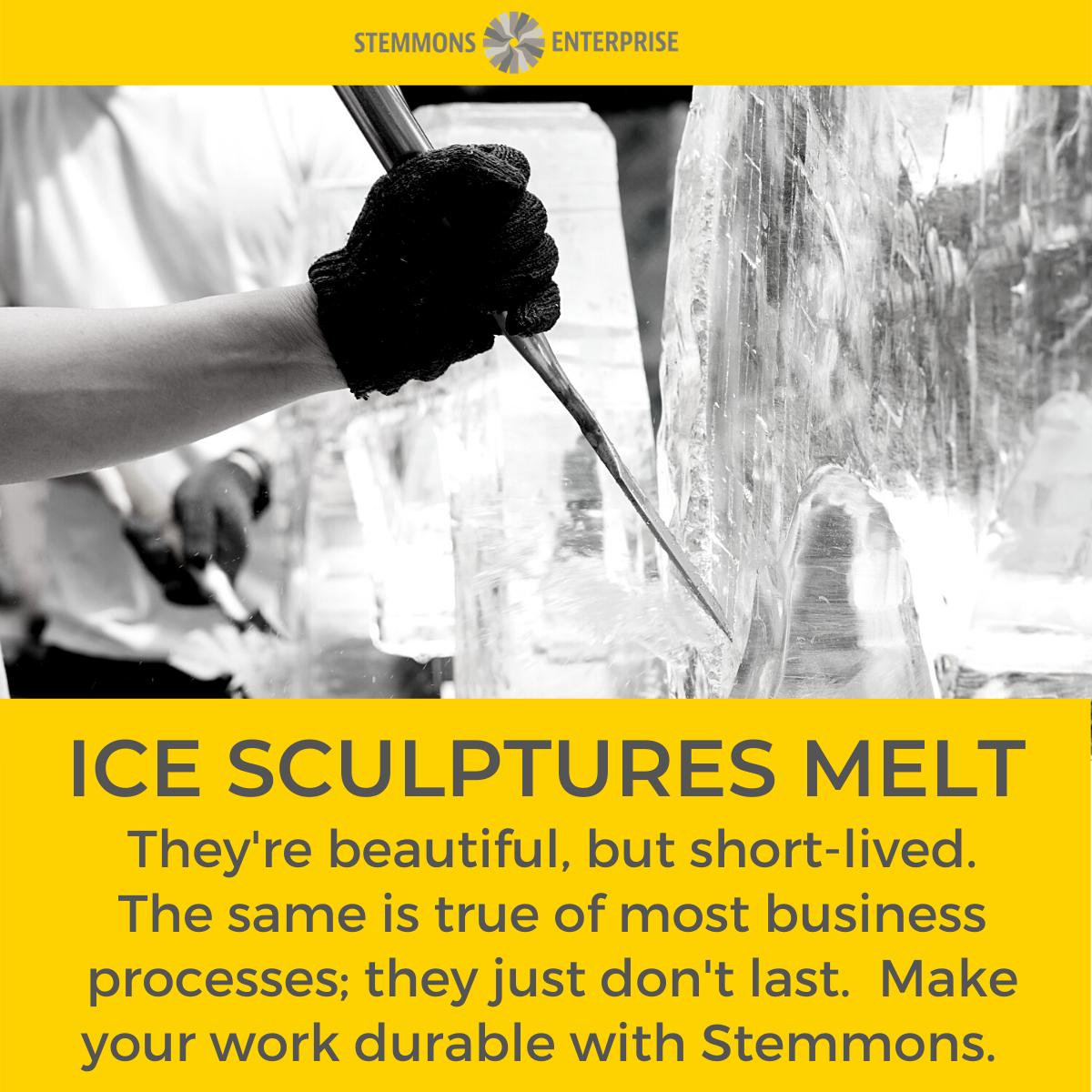 Ice Sculptures Melt