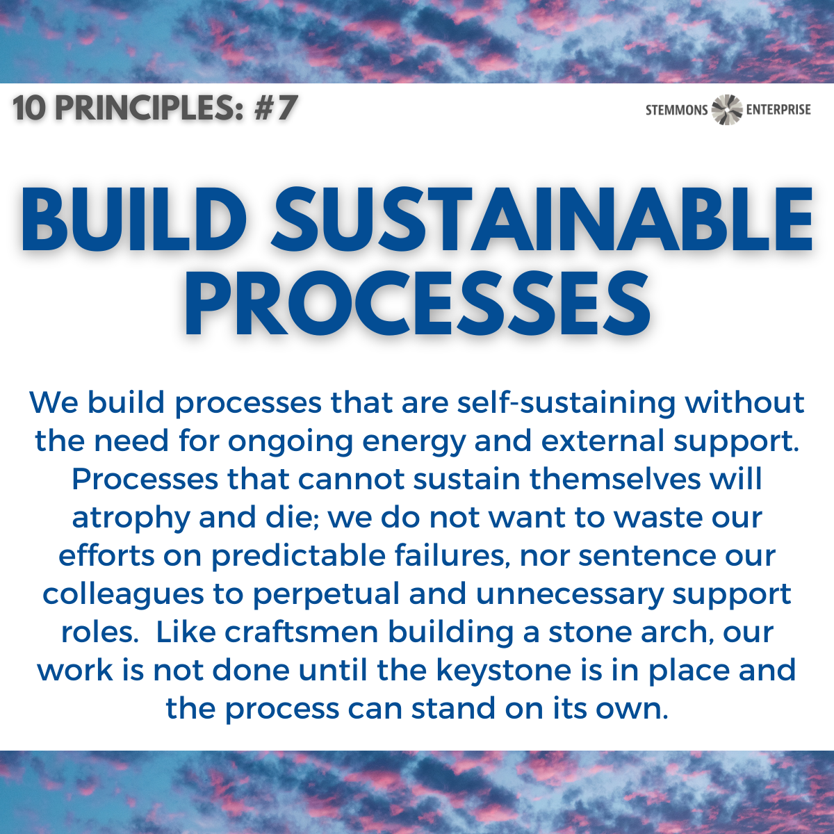 Build Sustainable Processes